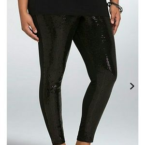 TORRID Plus Sequin Front Leggings 3X